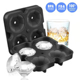 Ice Cube Trays  Diamond-Shaped Silicone Ice Tray - Molds with Lid Ice Cube Mold Easy Release - BuyShipSave