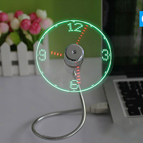 Amazon Aliexpress time USB clock fan real time temperature display fan snake fan - BuyShipSave