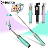 Mini Selfie Stick With Button Wired Silicone Handle Monopod Universal For iPhone 6 5 Android Samsung Huawei Xiaomi Sticks