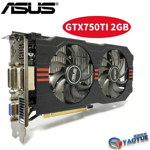 Asus GTX-750TI-OC-2GB GTX750TI GTX 750TI 2G D5 DDR5 128 Bit PC Desktop  Graphics Cards PCI Express 3.0  computer Video card HDMI - BuyShipSave