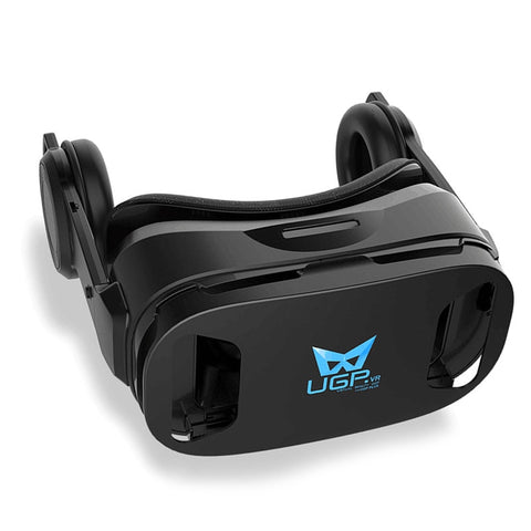 3D VR Headset Virtual Reality Glasses Build-in Stereo Headphone and Adjustable Strap Movie Games 3D Glasses (Black) - BuyShipSave