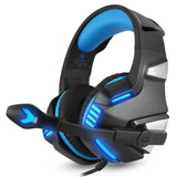 Hunterspider V-3 3.5mm Wired Gaming Headsets Over Ear Headphones Noise Canceling Earphone with Microphone LED Light Volume Control Blue for PC Laptop PS4 New XBOX ONE - BuyShipSave