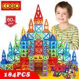 110-184pcs Mini Magnetic Designer Construction Set Plastic Constructor Magnetic Toy Educational Toys For Kids Christmas Gift - BuyShipSave