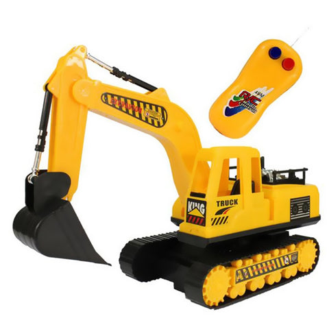 Full Functional Remote Control Electric Truck Excavator Construction Tractor Excavator Toy Transmitter Metal Shovel - BuyShipSave