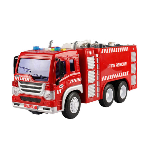 1pc Kids Telling A Story Intelligence Fire Sprinkler Truck Model Toy Engineering Car Trailer Truck Educational Playmate Gifts For Children(Fire Sprinkler Truck) - BuyShipSave
