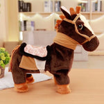 30cm Electric Horse Plush Toy Can Walking And Singing Machinery Pony Electronic Horse Doll  Children's Birthday Gift - BuyShipSave