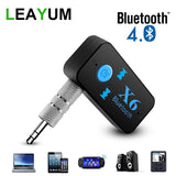 Bluetooth Adapter 3 in 1 Wireless 4.0 USB Bluetooth Receiver 3.5mm Audio Jack TF Card Reader MIC Call Support For Car Speaker - BuyShipSave
