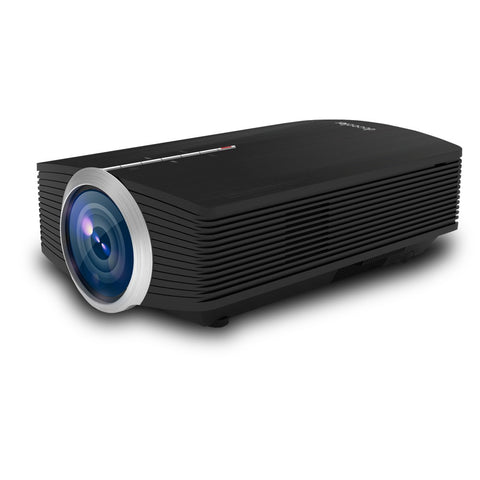 "Docooler YG-500 LED Projector 1080P 130"" Home Theater Video Projector 1200 Lumens 800 * 480 Pixel 1000:1 Contrast Ratio with HD IN VGA AV USB Remote Controller EU Plug - BuyShipSave"