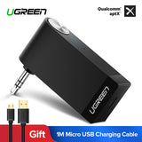 Ugreen Bluetooth Receiver 4.2 Wireless Bluetooth Audio Receiver 3.5mm Car Aux Bluetooth Adapter for Speaker Headphone Hands-free - BuyShipSave