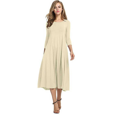 2018 Women Linen Vintage Dress Patchwork Casual Loose Boho Long Maxi Dresses Plus Size 2XL 3XL Large Sizes Dresses - BuyShipSave