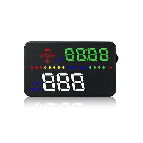 "3.5"" Car HUD Head Up Display RPM Engine Speed KM/h & MPH Driving Speed Warning OBDII Interface Color LED Windshield Projector System - BuyShipSave"
