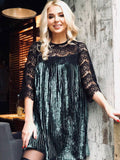 Women's Stunning Lace Floral Celeb Inspired Party Pleated Dress Formal Prom Ladies Lace Patchwork Mini Dress - BuyShipSave
