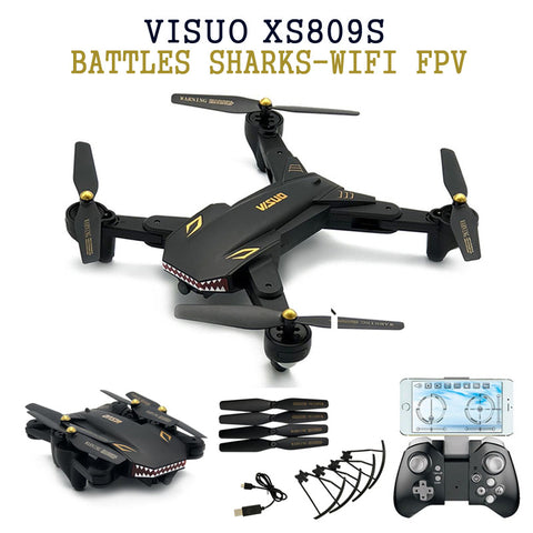Eachine VISUO XS809S BATTLES SHARKS 720P WIFI FPV With Wide Angle HD Camera Foldable RC Quadcopter RTF  RC Helicopter Toys - BuyShipSave