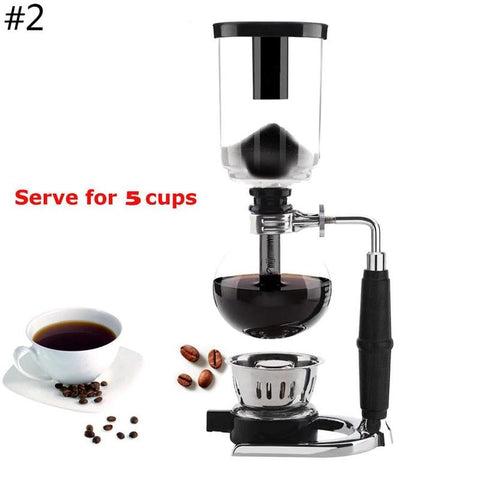 1PCS Funny Glass Siphon syphon coffee Green machine cafe coffee maker kit