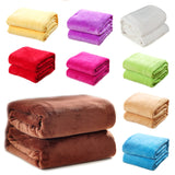 Gorgeous Flannel Fleece Blanket Cozy Couch Solid Color Bed Blanket - BuyShipSave