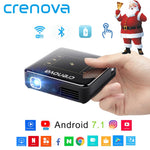 CRENOVA 2018 Newest DLP Projector For Full HD 4K With Android 7.1 Bluetooth 4.0 Mini Projector For Home Theater 300 inch Beamer - BuyShipSave