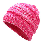 Ponytail Beanie Hat Winter Skullies Beanies Warm Caps Female Knitted Stylish Hats For Ladies Fashion