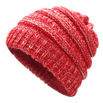 Ponytail Beanie Hat Winter Skullies Beanies Warm Caps Female Knitted Stylish Hats For Ladies Fashion - BuyShipSave