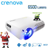 CRENOVA 2018 Newest Video Projector For Full HD 4K*2K Home Theater Projectors With 5G WIFI Android 6.0 OS 6500 Lumens Proyector - BuyShipSave