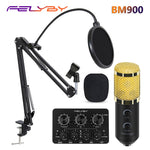 FELYBY bm 800 upgraded bm 900 Professional Studio USB Condenser Microphone for Computer Laptop Adjustable Volume Reverb mikrofon - BuyShipSave