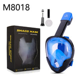 2018 New High Quality Full Snorkeling Mask Underwater Scuba Diving Mask Motion Sports Camera M8018 - BuyShipSave