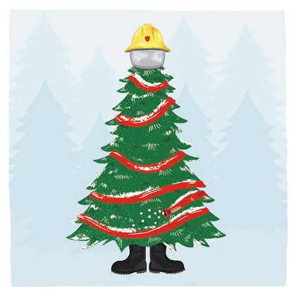 """Firefighters Tree"" Christmas Cards"