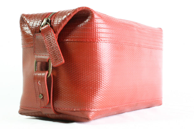 Personalised Elvis & Kresse Large Red Wash Bag