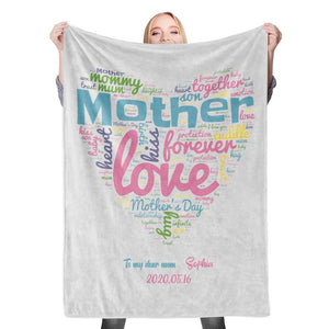Custom Photo Blanket Mother's Day Blanket Mother Blanket Mom Blanket Mother in Law Blanket - Blanket for Mom