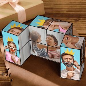 Benutzerdefinierte DIY Magic Folding Foto Rubik's Cube