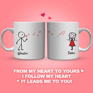 Couple Mug For Follow My Heart It Leads Me To You  (Print Both Sides)