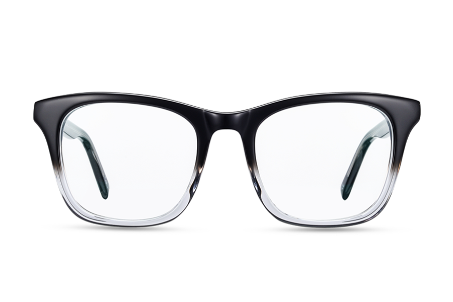 Helios (Shiny Black Fade Clear)Glasses