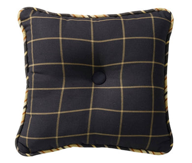 Black Tweed Accent Pillow