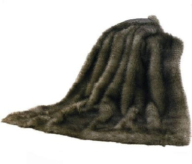 Faux Chinchilla Throw