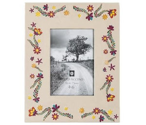 Painted Floral Picture Frame