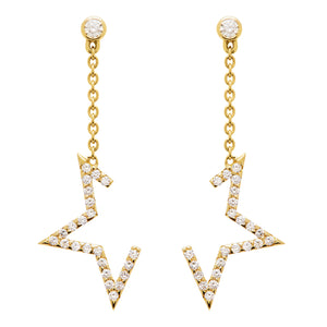 Deconstructed Star Drop Earring