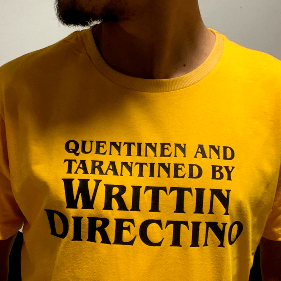 CAMISETA QUENTINEN AND TARANTINED BY WRITTIN DIRECTINO