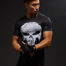 Load image into Gallery viewer, Men Fitness Compression Shirt Punisher MMA