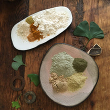 Load image into Gallery viewer, ~kaolin clay~ face mask {radiant} ~add honey or vegan~