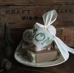 ~ soap bundle with antique/vintage china dish~ {history included}
