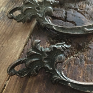 antique cast drawer pulls burkey & gay ~set of 5~