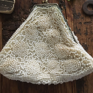 antique handmade beaded bag