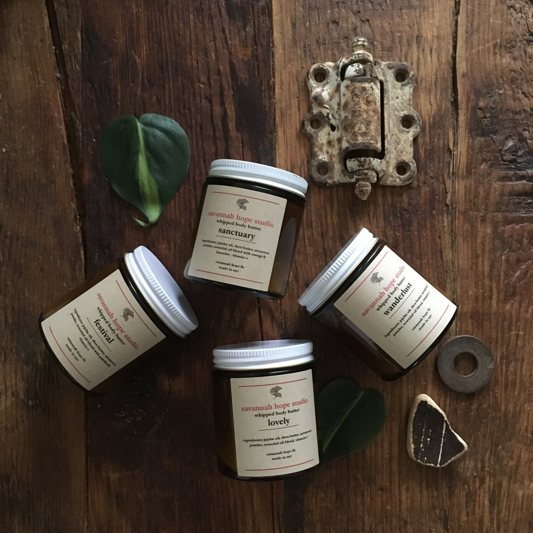 ~choose your scent~ whipped body butter {new packaging, scents, sizing}