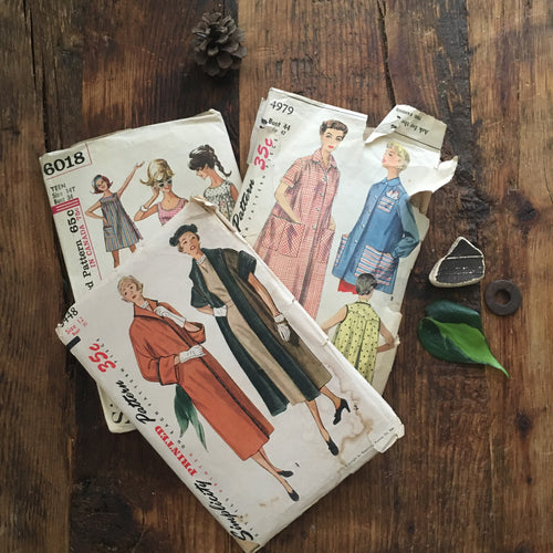 vintage 1950s sewing patterns lot of 3