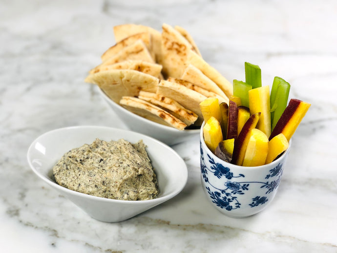 Organic Lapsang Souchong Tea and Hummus Dip