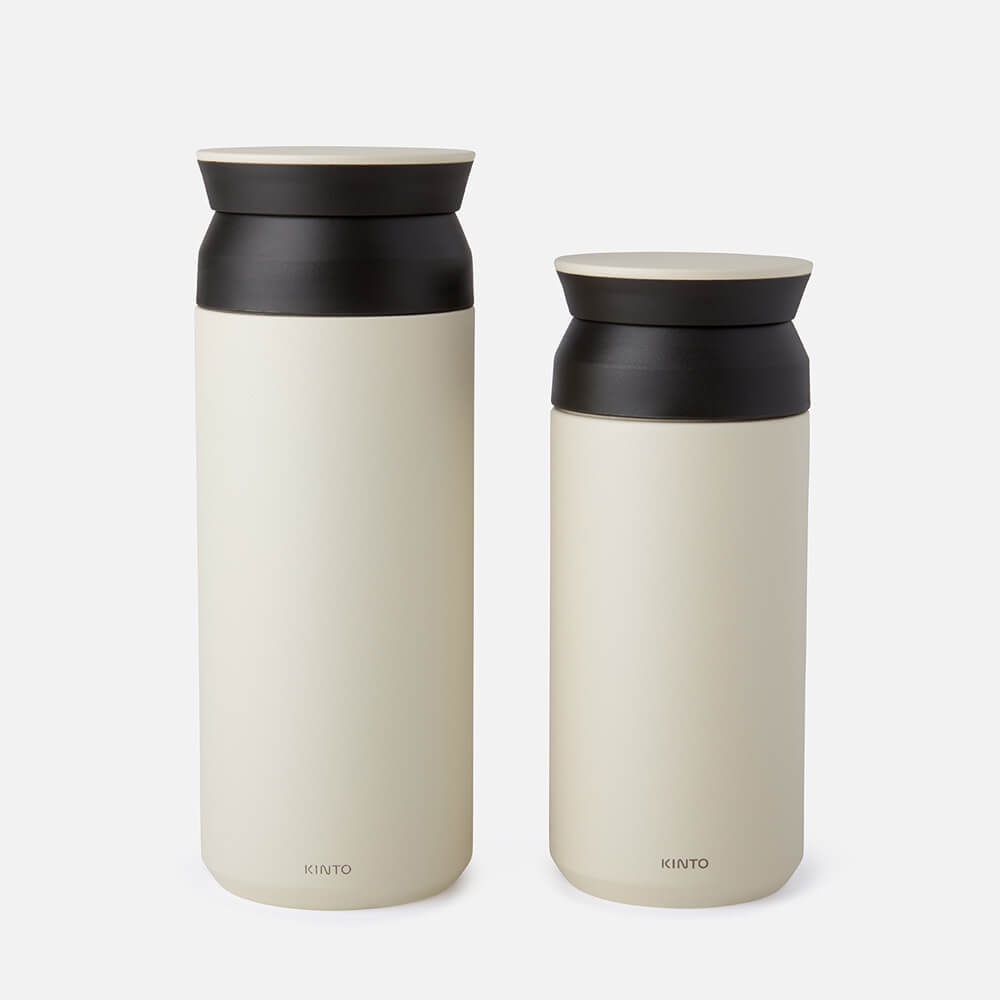 Large and Small Kinto Travel Tumbler in White