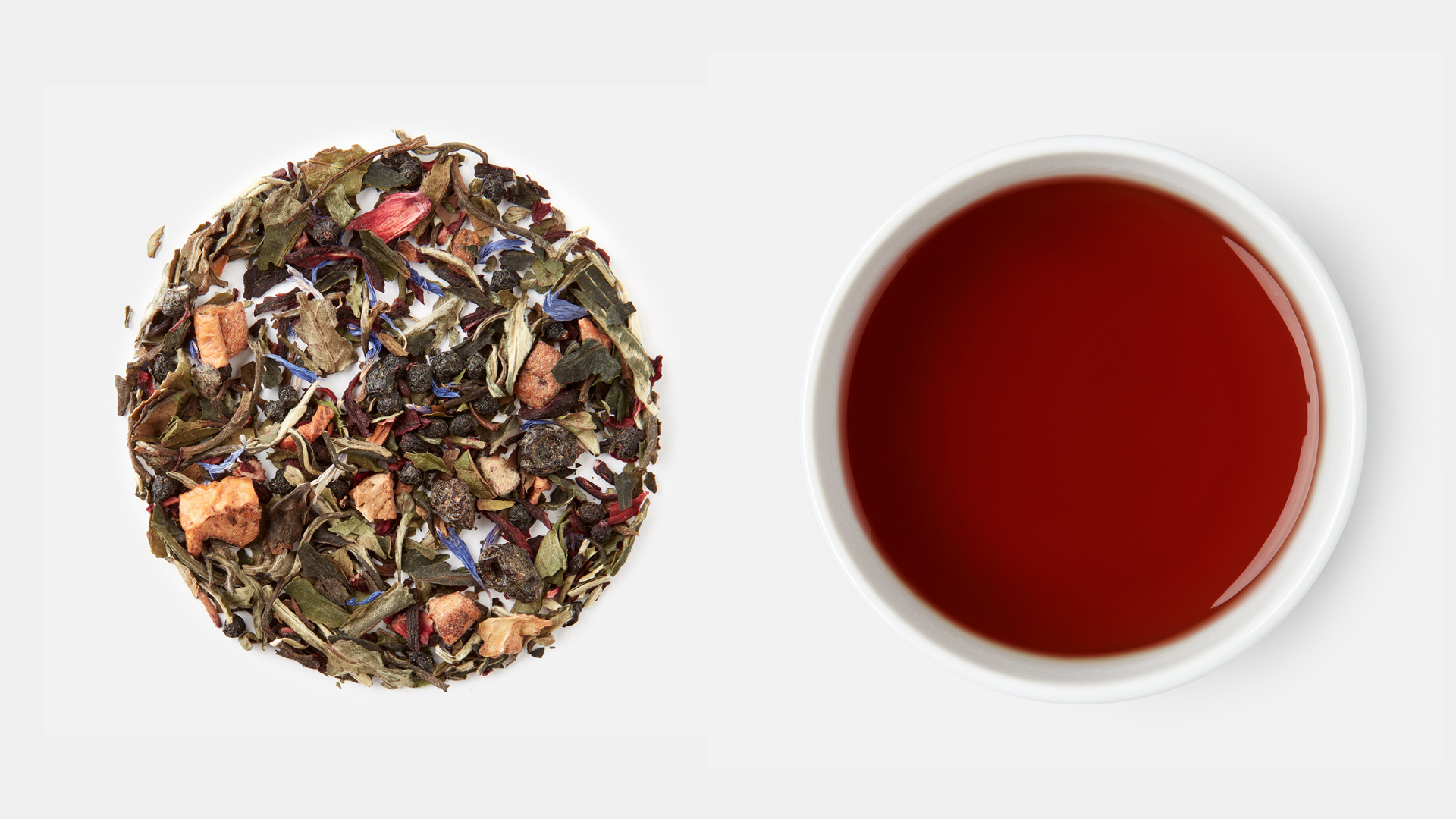 Blink Tea Blueberry White Peony Tea Leaf and Liquor