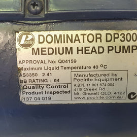 Poolrite Dominator 300 Pool Pump - 1