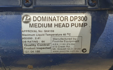 Poolrite Dominator 300 Pool Pump