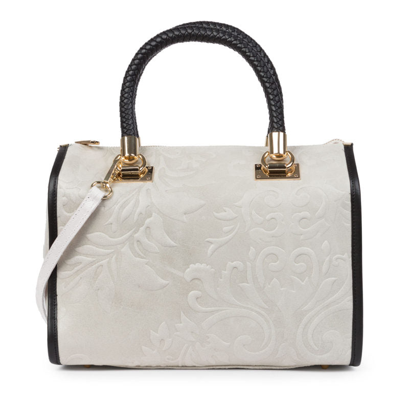 Bolso Coffre Tipo Doctor en Color Blanco - Santa Firenze