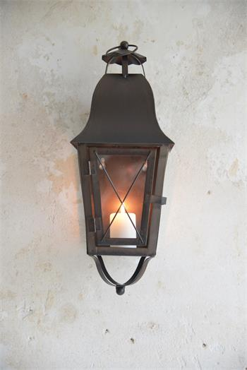 Dark Metal Wall Lantern